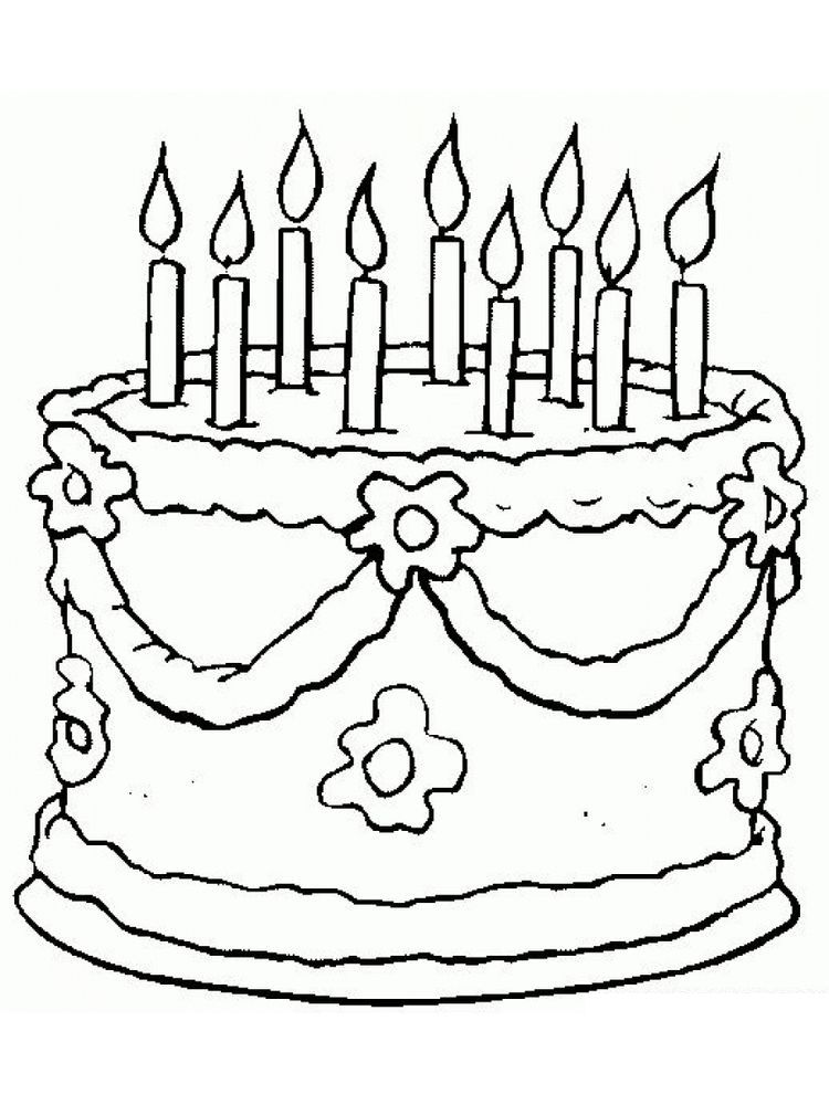 Birthday Cake Coloring Pages Image Birthday Cake Is A Cake Given