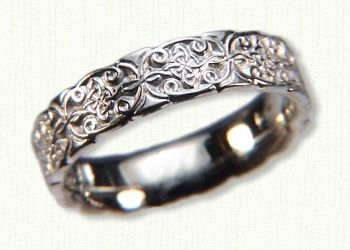 his and hers alhambra knot band celtic never ending knot representing continuation and longevity found carved on the walls of the legendary alhamb - Celtic Wedding Ring Sets
