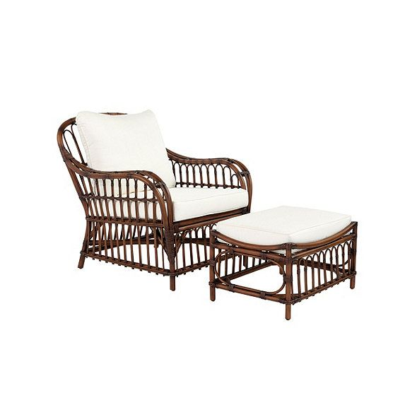 Sorrel Rattan Chair Ottoman Ballard Rattan Chair Farmhouse