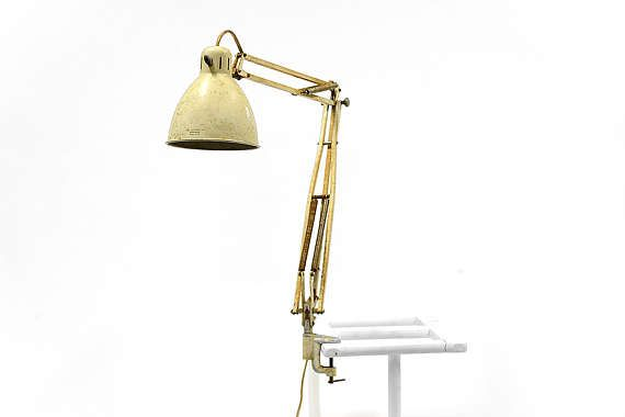 Vintage Off White Luxo 1001 Architect Lamp By Jac Jacobsen The Original Model Made In 1937 With Designer Jac Jacobsen Printe Architect Lamp Vintage Lamps Lamp