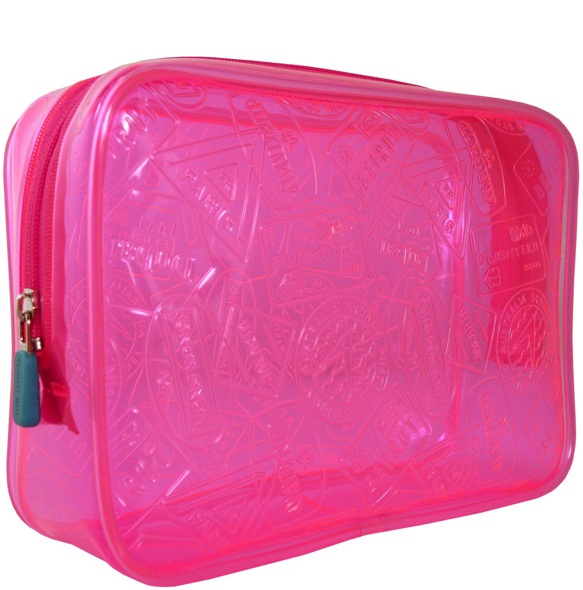 $14.00 F1 X-RAY QUART BAG PINK  7.125in X 5in X 2in