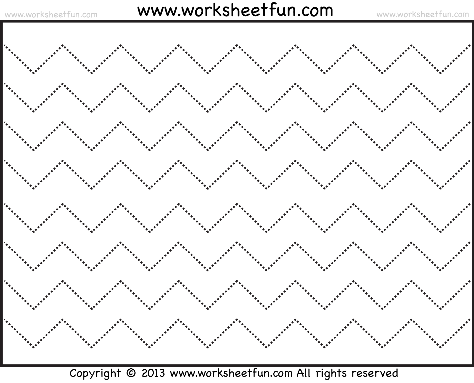 Zig zag line line worksheet pinterest zig zag, tracing Cool Line Art Disney Cruise Line Coloring Pages Black and White Coloring Pages