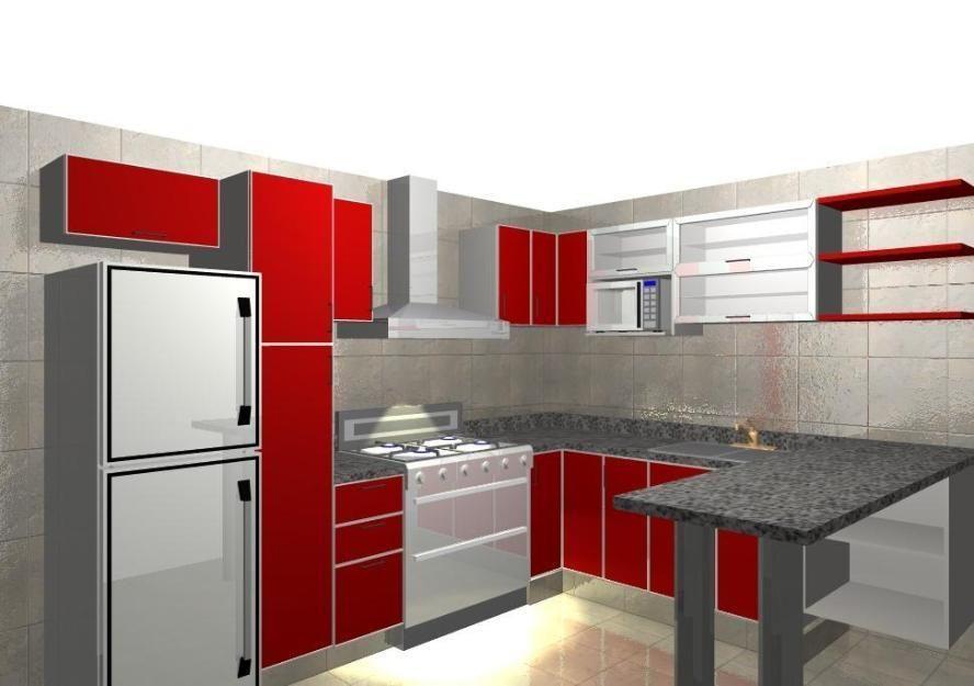 Cocinas con muebles de melamina buscar con google for Modelos de muebles de cocina modernos