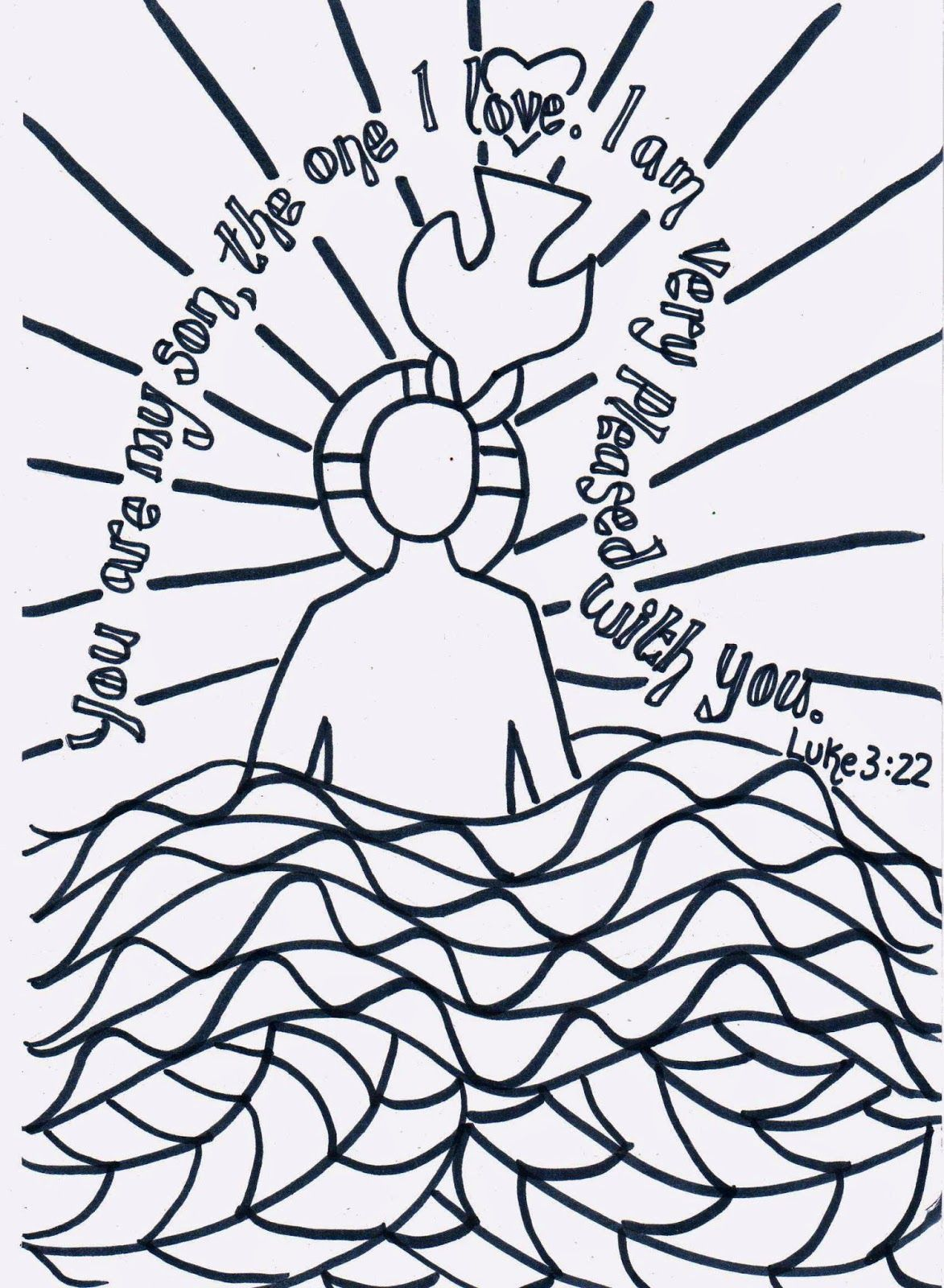 Flame Creative Childrens Ministry Reflective Colouring The Baptism Of Jesus