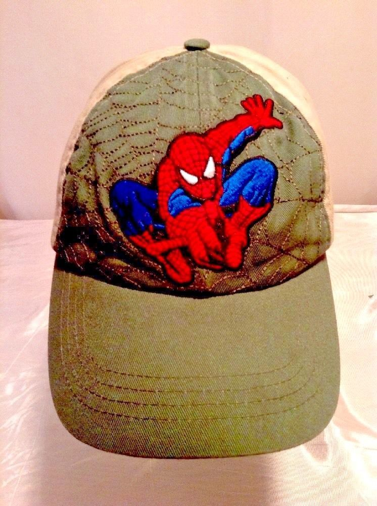 san francisco 4c5a1 abe15 sweden funko marvel collector corps spider man subscription box baseball cap  5645b c06d5  coupon code for youth green beige spider man hat marvel 2007  ...
