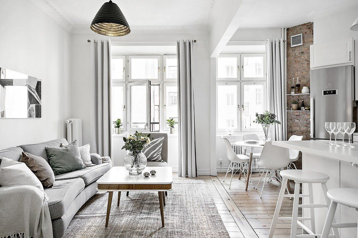open concept mini pisos distribución diáfana diseño pisos pequeños ...