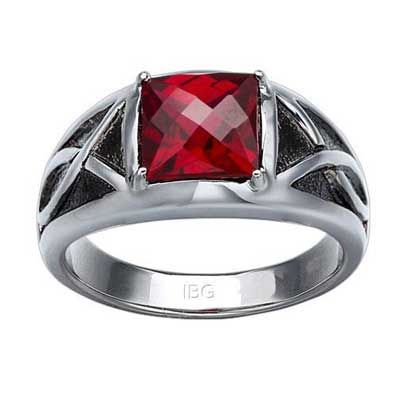Zales 8.0mm Garnet Ring in Sterling Silver fWK10ji