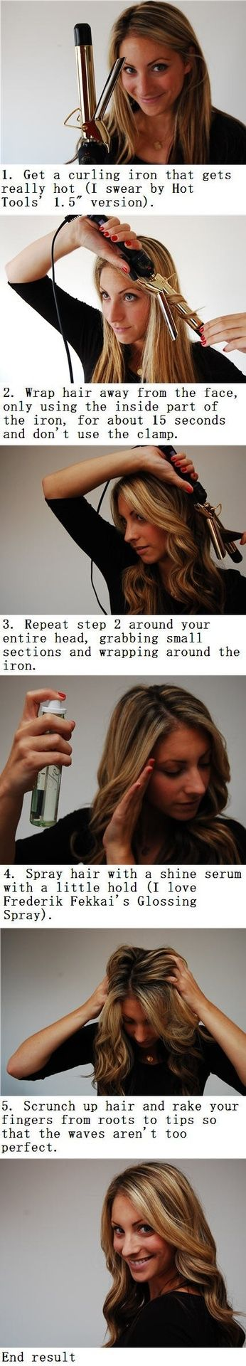 Curling iron Hair beauty, Hair hacks, Hair styles