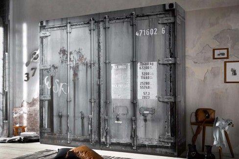 Container Von Pol Power Kleiderschrank Grau Container Optik