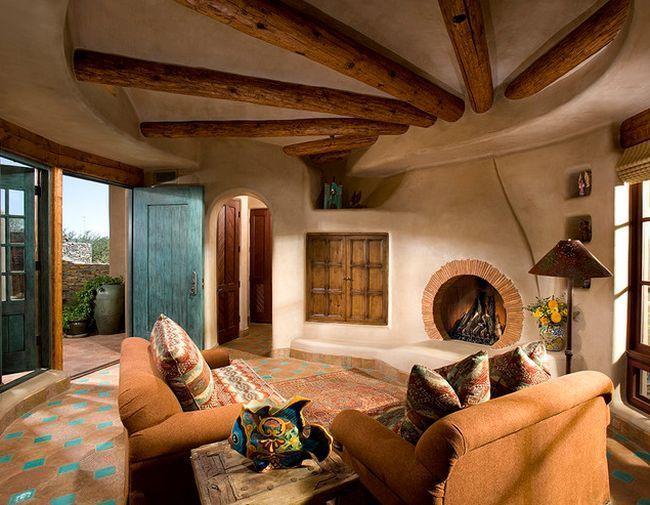 Case din cob arhitectura in forme organice