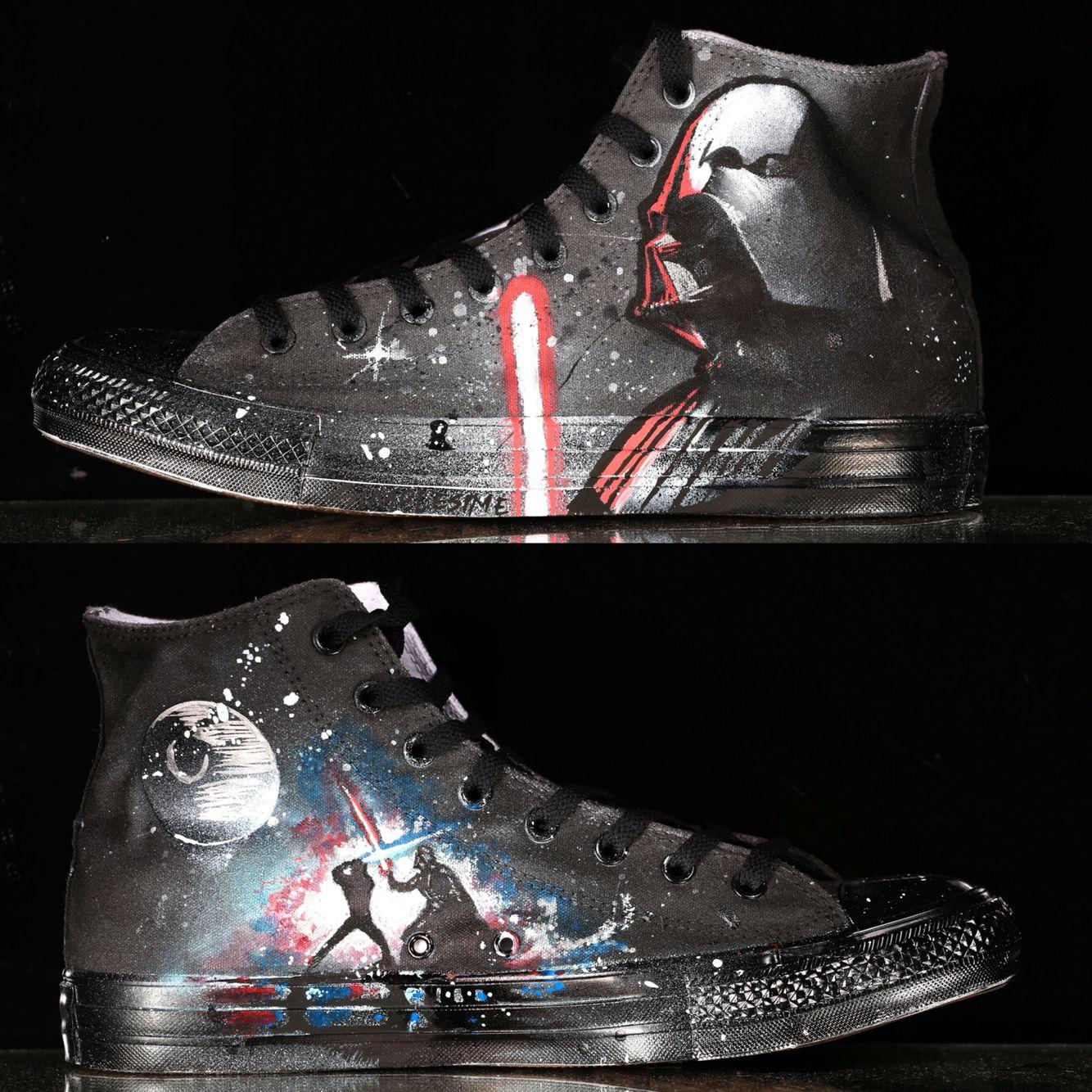 9eac3de6cb7  ConverseShoes 2 2 custom Star Wars chucks painted by  Simplesime