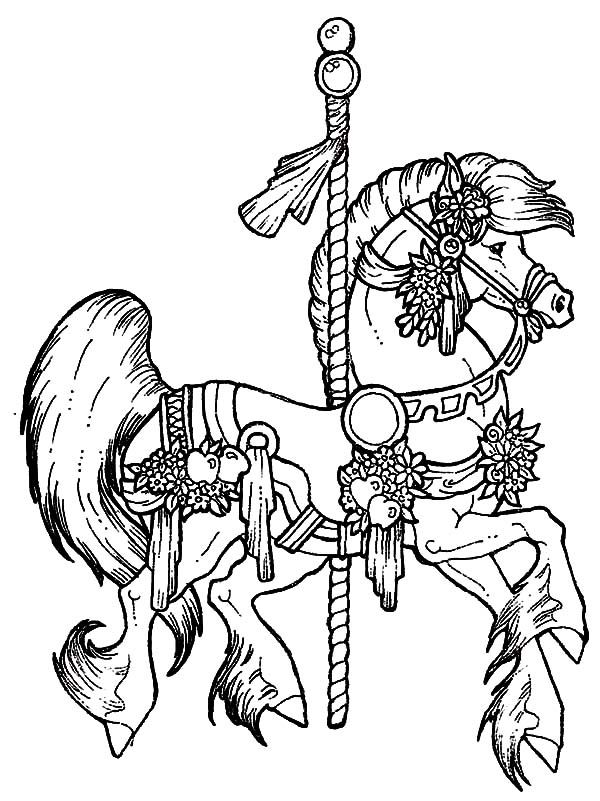 Pin by Wanda Twellman on Carousel Horses | Horse coloring ...