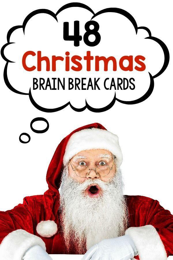 Christmas Brain Break Cards