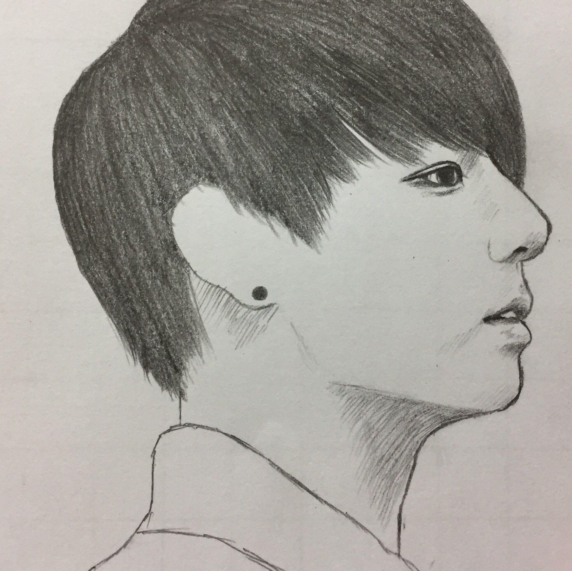 art drawing fanart boy bts jungkook Bts drawings