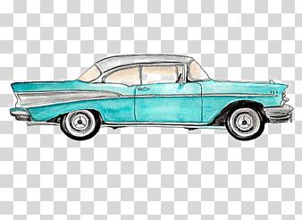 Vintage Cars Painted Cars Cartoon Car Watercolor Car Compact Car Png Car Painting Car Cartoon Vintage Cars
