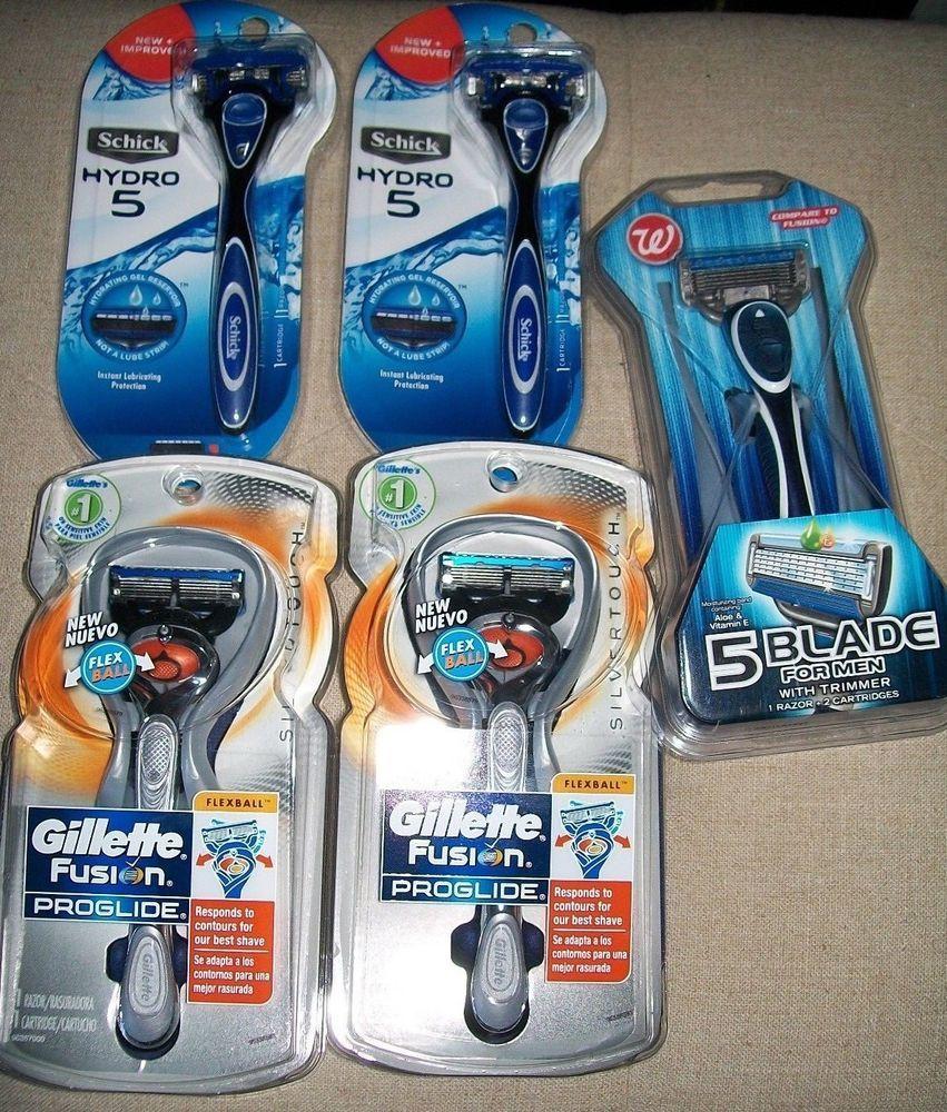 Schick Hydro 5 Gillette Fusion Proglide Walgreen S Brand Trimmer Male Razor Lot Gilletteschickwalgreens Gillette Fusion Gillette Best Shave