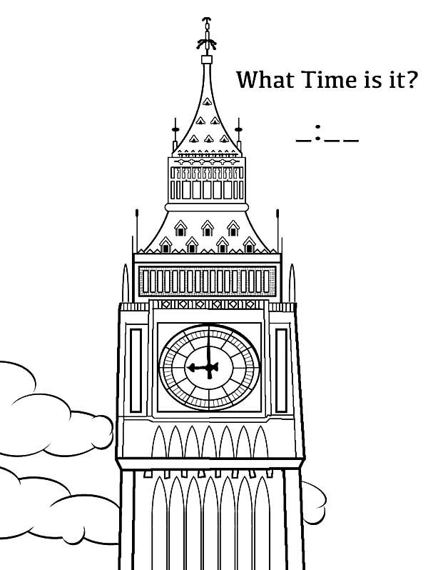 Big Ben Analog Clock Coloring Pages Bulk Color Big Ben Coloring Pages Kids Pages