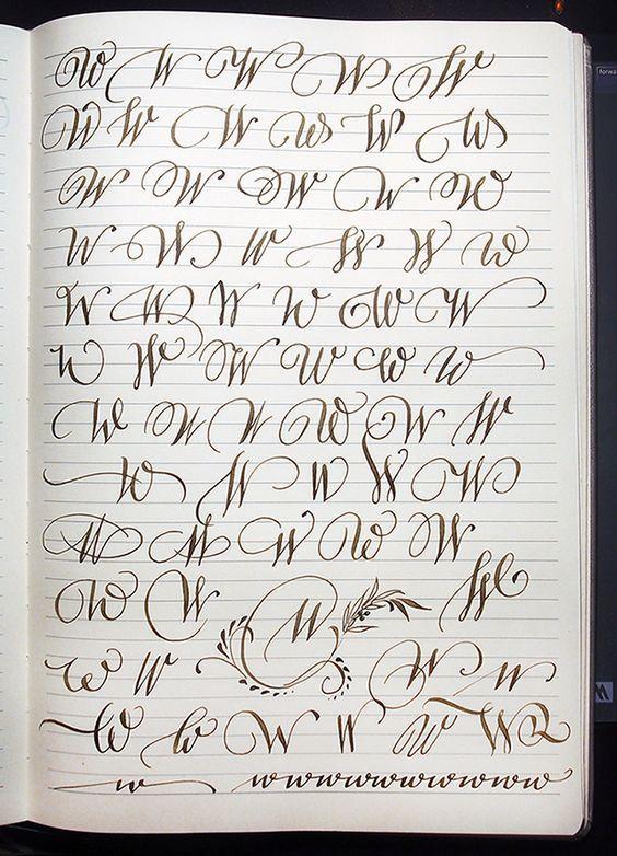 Majuscule W variants by Polish calligrapher Barbara Galinska on ...