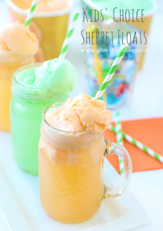 Sherbet Floats fun and colorful!