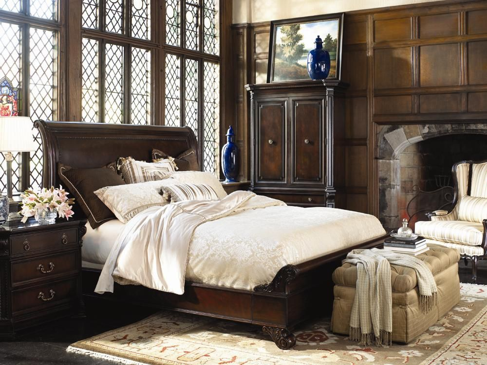 Brompton hall bedroom in mahogany by thomasville one - Thomasville mahogany collection bedroom ...