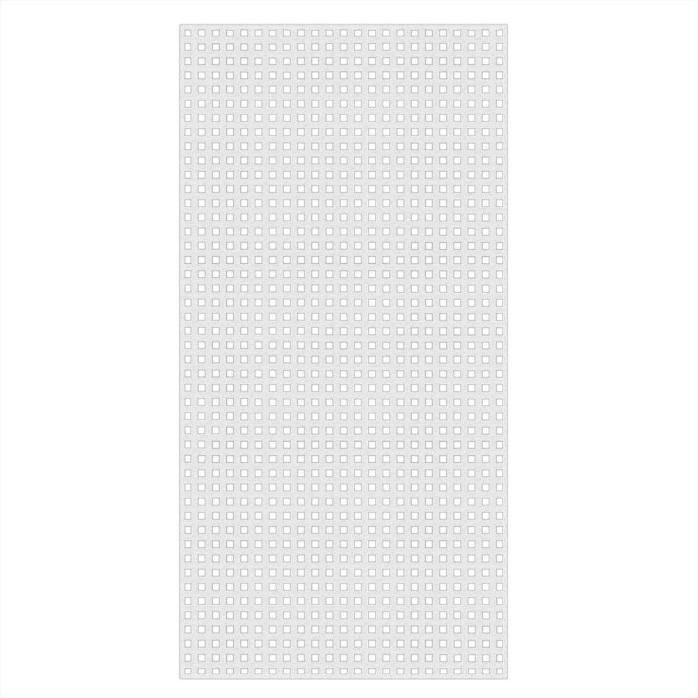 Veranda 0 2 In X 48 In X 8 Ft White Vinyl Square Privacy Lattice 73004051 The Home Depot Decorative Screen Panels White Vinyl Square Lattice