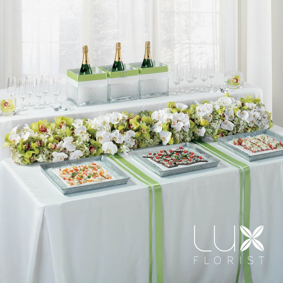 Elegant buffet table decoration pictures - Wedding Appetizers At The Table Green Appetizer Table Decoration Bw79 11