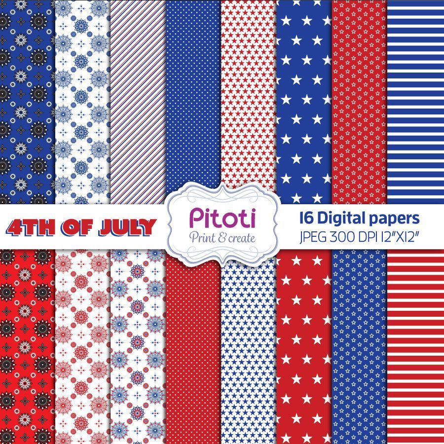41+ 4Th Of July Digital Papers, Independence Day Backgrounds SVG