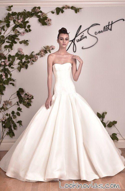 vestido de novia austin scarlett sirena con volumen | cortes