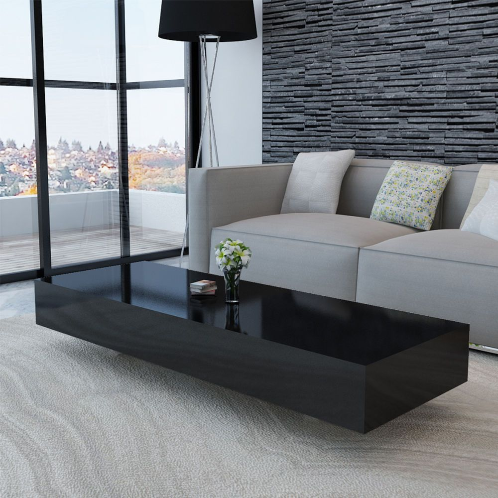 New Black Coffee Table High Gloss Living Room Furniture Rectangular Modern 115cm In Home Furniture D Coffee Table High Gloss Solid Coffee Table Coffee Table [ 1000 x 1000 Pixel ]