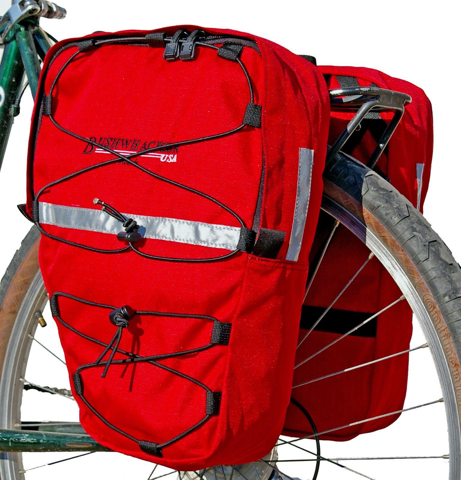 New Bushwhacker Moab Red Bike Pannier Bicycle Rack Cycling Cargo Bag ...