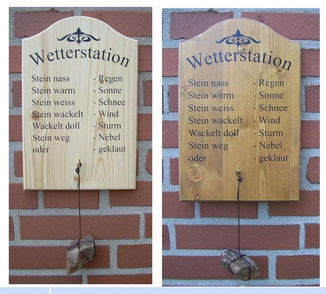 witzige wetterstation dekorationen t rschilder geschenke f r den garten pinterest. Black Bedroom Furniture Sets. Home Design Ideas