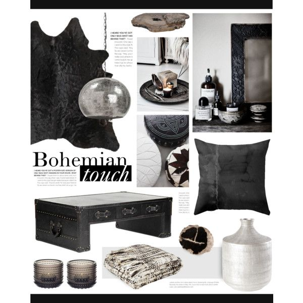 """Boho decor"" by bellamarie on Polyvore  #boho #bohemian #blackandwhite #bohohome #bohodecor"