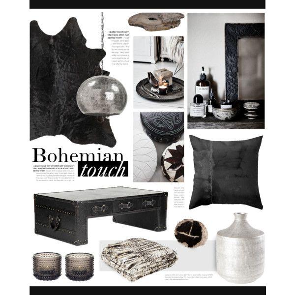 """Boho decor"" by bellamarie on Polyvore  #boho #bohemian #blackandwhite #bohohome #bohodecor"