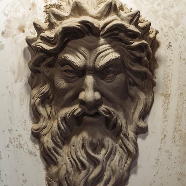 Zeus Sculpture God Of Thunder Wall Art Zeus Figure Etsy Greek Gods Zeus Statue Sculpture