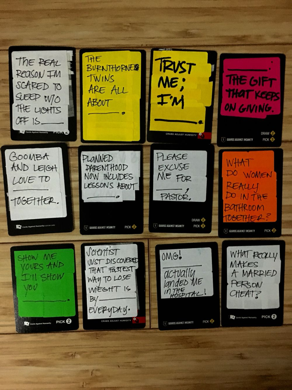 diy your own cards against humanity or awesome and