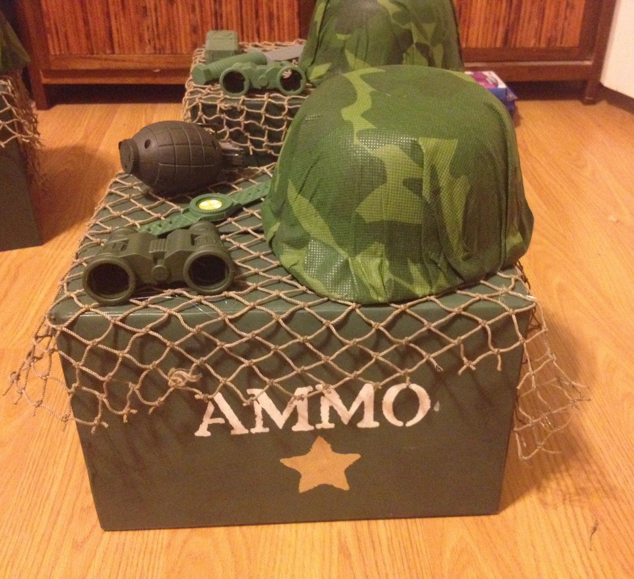 Camouflage Party Centerpiece Birthday Army Decorations