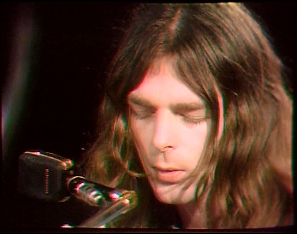 Pink Floyd's Richard Wright singing during 1970 ...