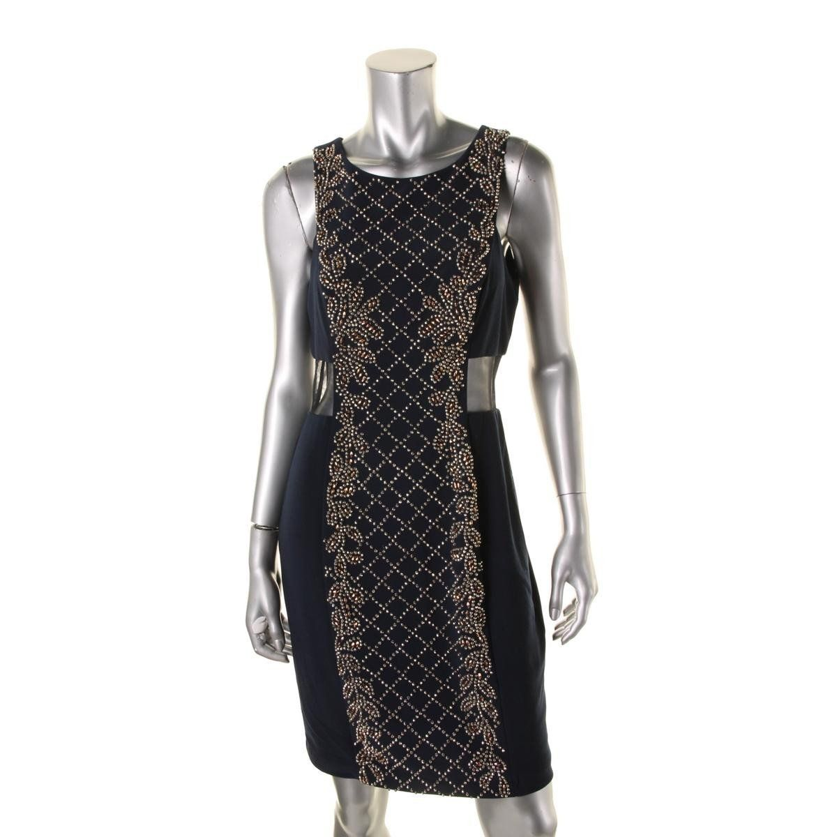 Xscape womens beaded kneelength party dress products pinterest