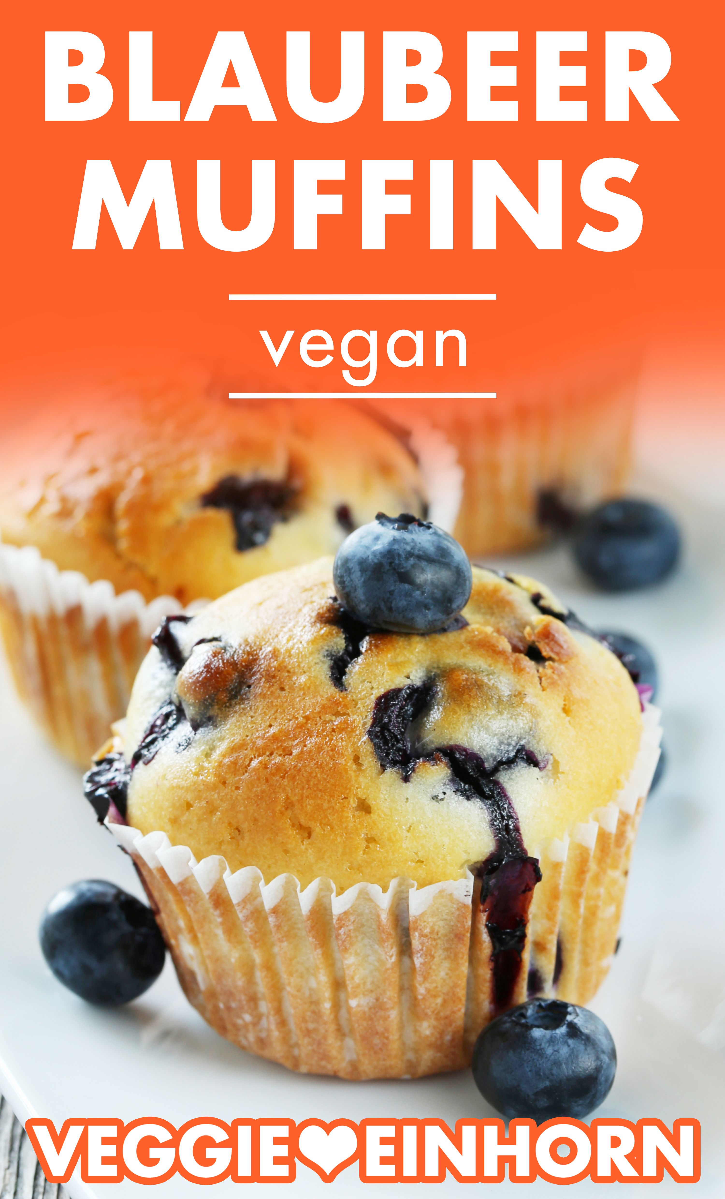 Einfache vegane Muffins backen | Schnelle vegane Muffins mit Beeren | Blaubeermuffins ohne Ei