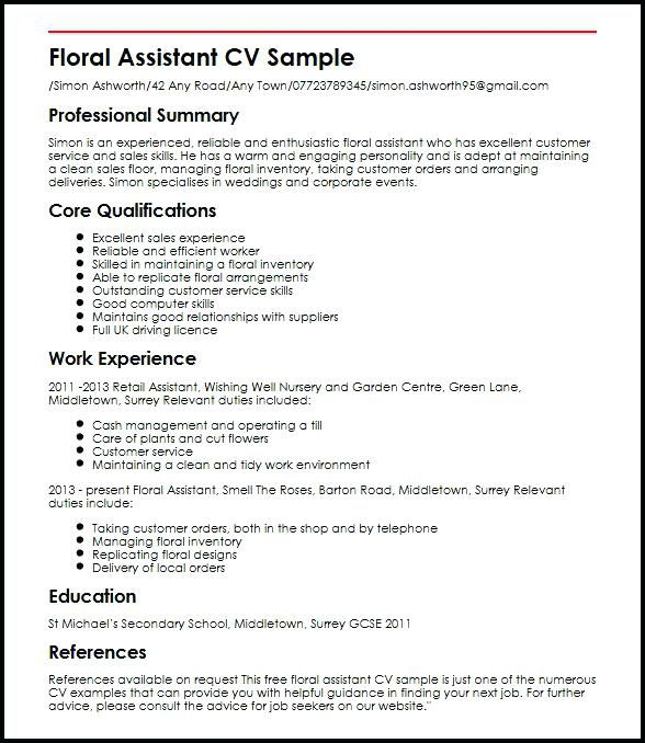 cv examples for retail jobs uk beautiful photos free cv