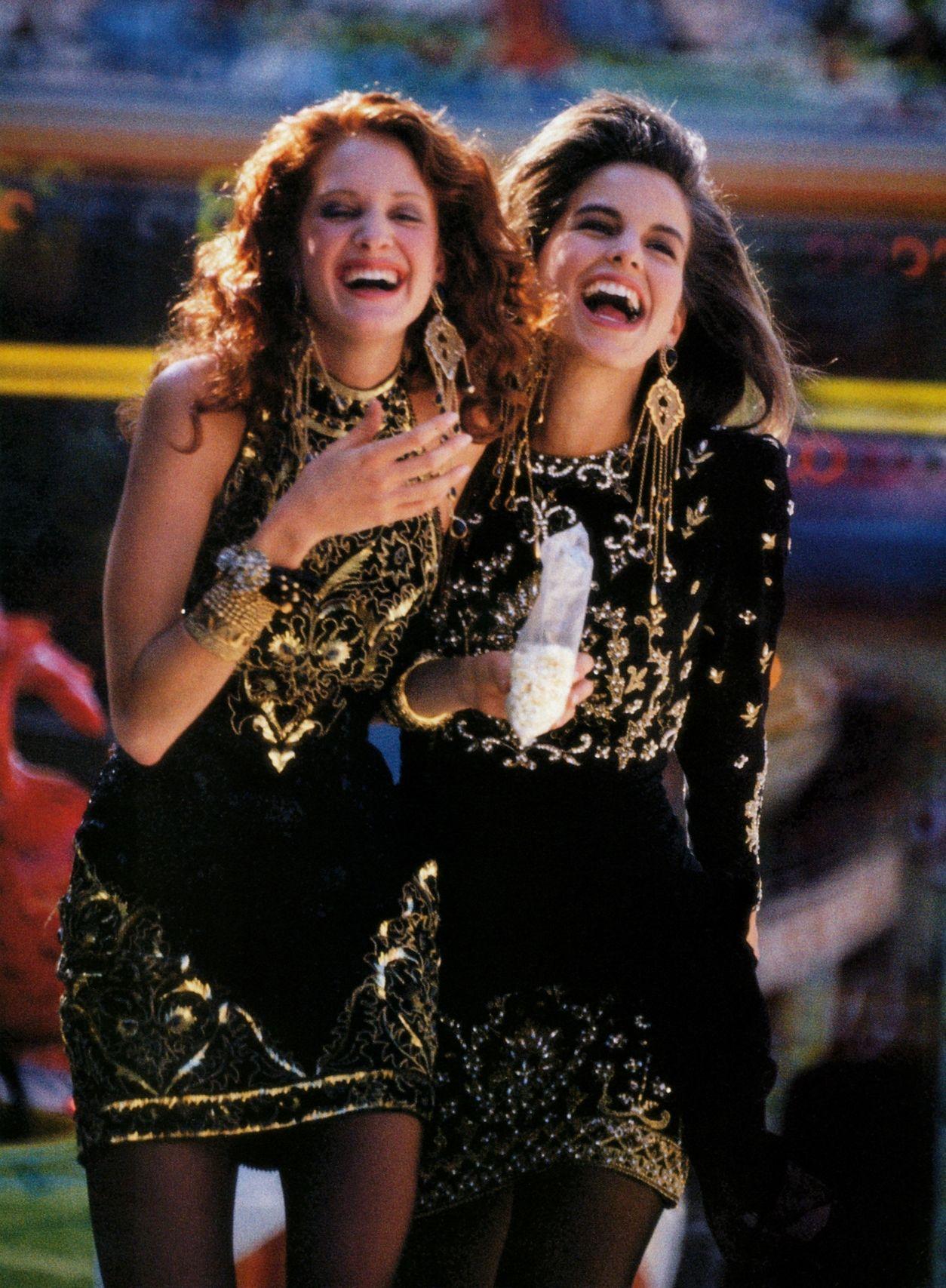 80s-90s-supermodels:  Madame Germany, September 1990Photographer :Jürgen DommnichModels: Valerie Jean Gardino #vintage #fashion