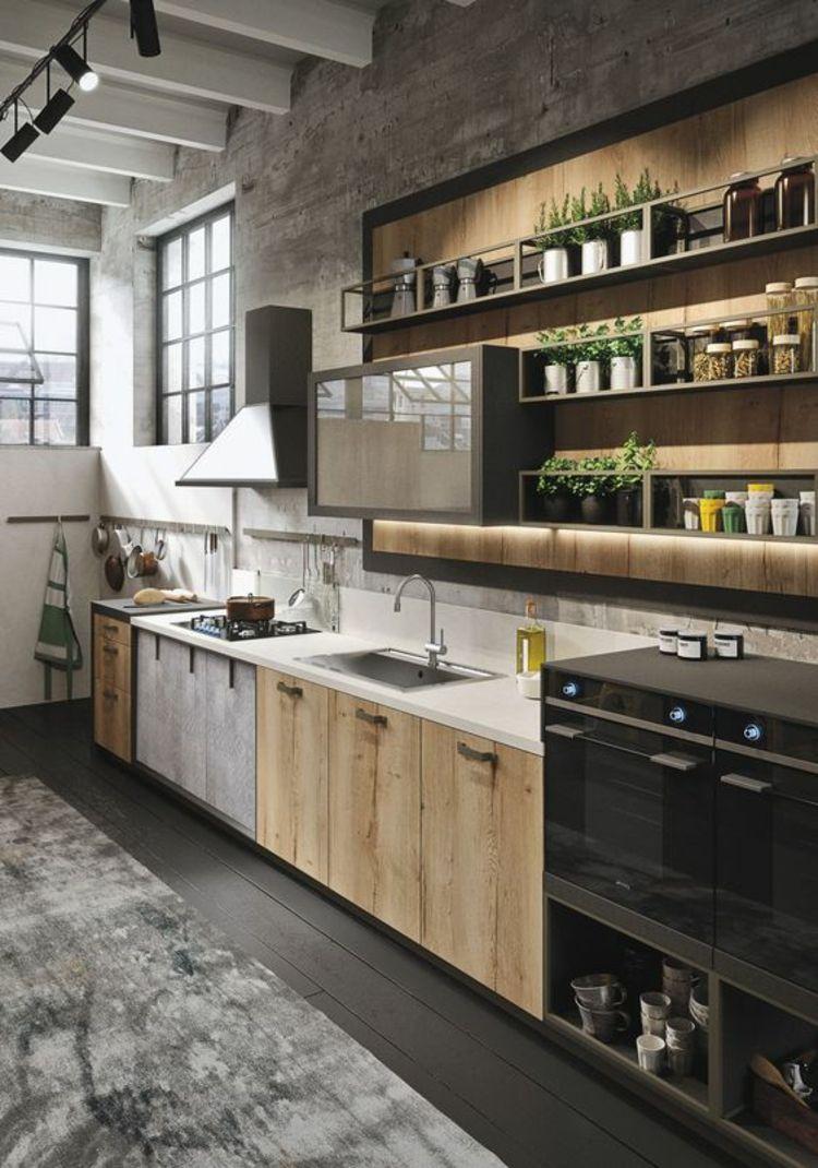 Moderne Küchenbilder moderne landhausküche holz küchenschränke küchenbilder 2017