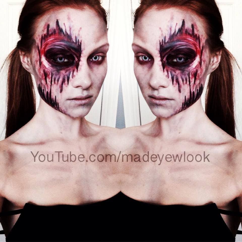 Easy, latex free, mess free zombie makeup tutorial! Check it out ...