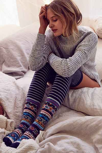 Winter Fair Isle Over-The-Knee Sock - Urban Outfitters