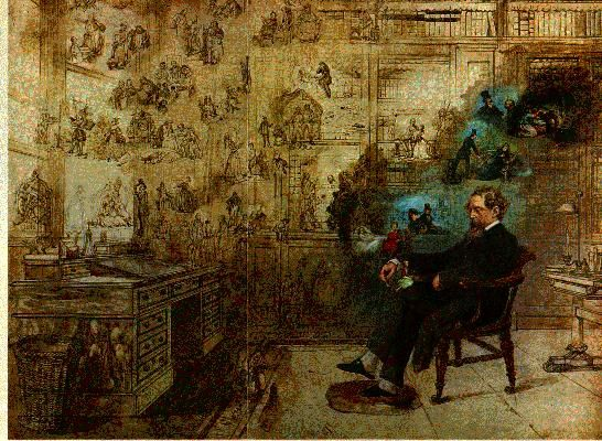 Dickens In His Study By Bus Google Search Robert