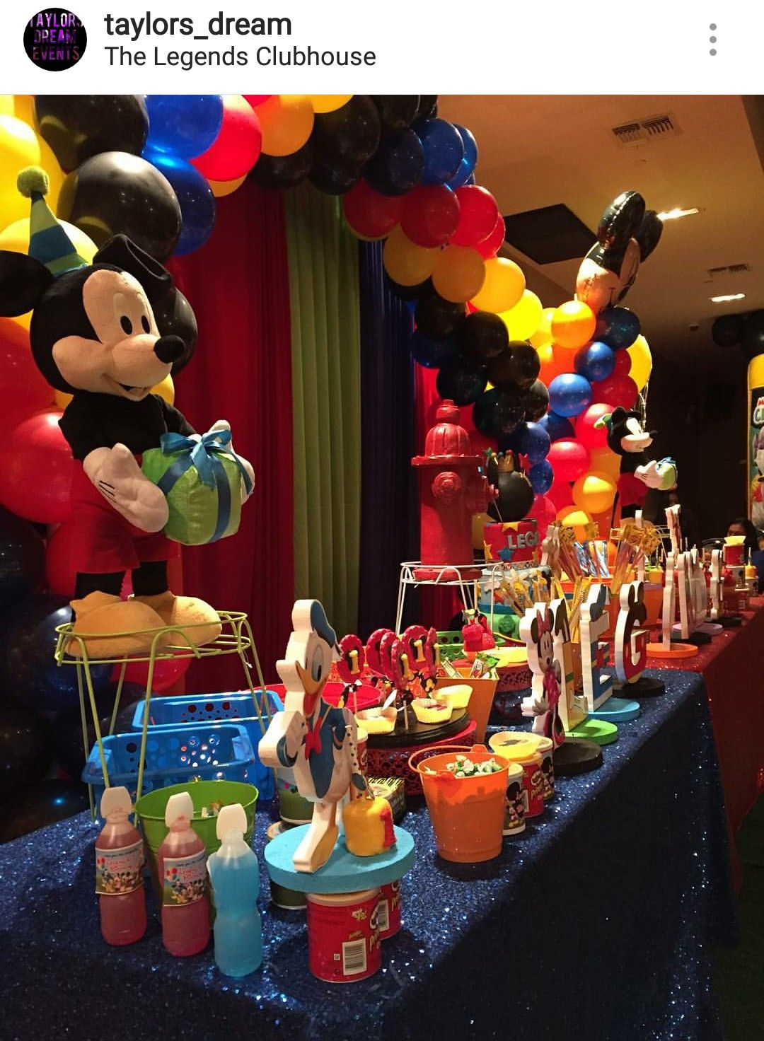 Mickey Mouse Clubhouse Birthday Party Dessert Table