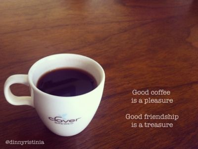 good coffe is a pleasure. good friendship is a treasure.