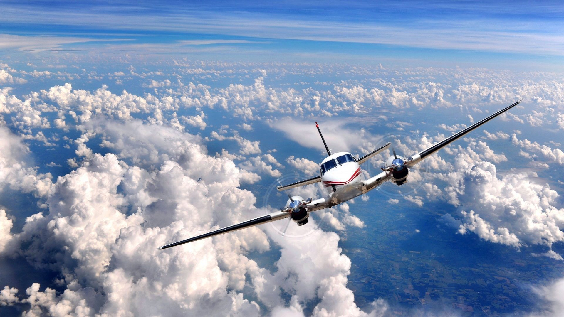 Aircraft In Flight HD Wallpaper For Standard