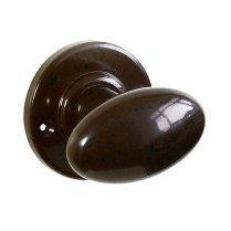 Walnut Bakelite BROLITE Plain Oval Door Knobs | Ham shades bathroom ...