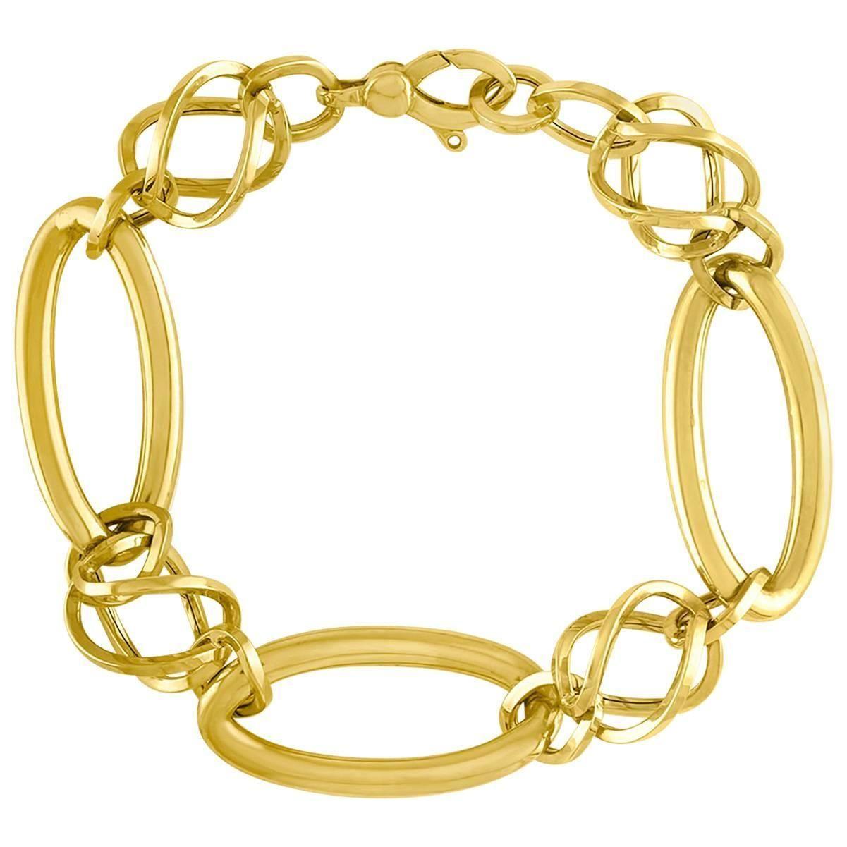 2de5b740531 Golden Clef International Italy Gold Link Bracelet in 2019 | My ...